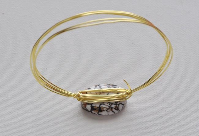 one stone wire bracelet tutorial