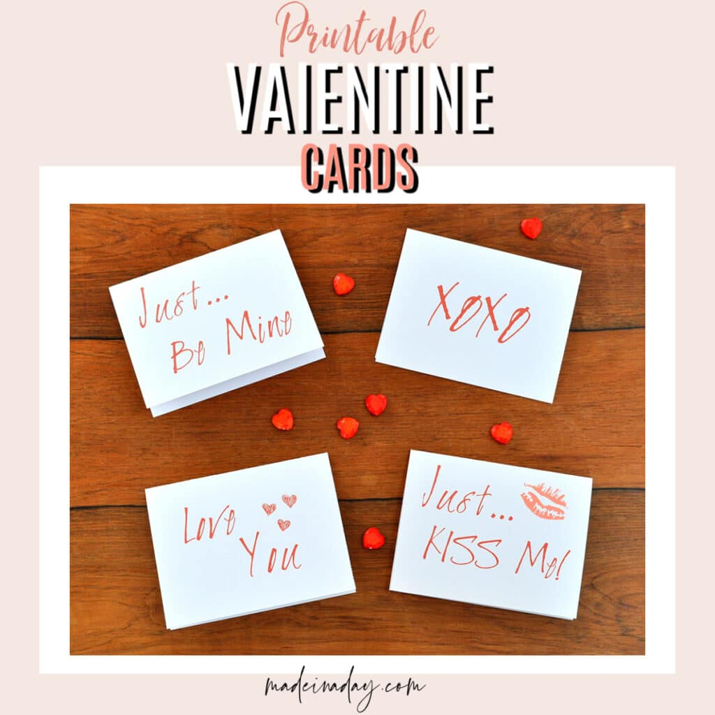 Simple Printable Valentines Day Cards Free Download