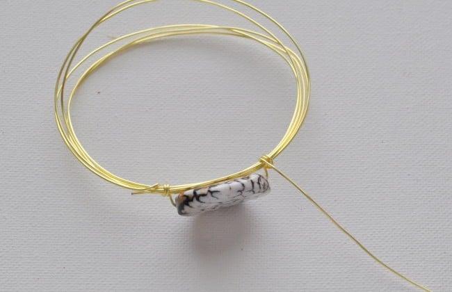 wrap wire around bead