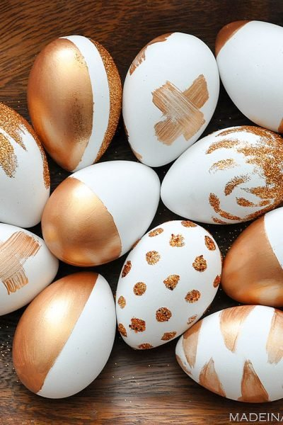 How to Make Metallic Copper Painted Eggs