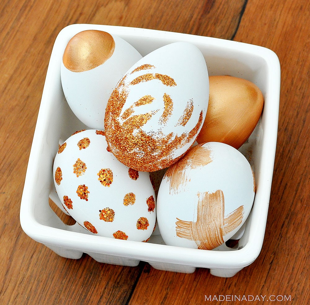 glitter eggs, copper eggs, metallic eggs, funky easter eggs, sparkly easter eggs
