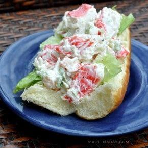Crab Seafood Salad Recipe madeinaday.com