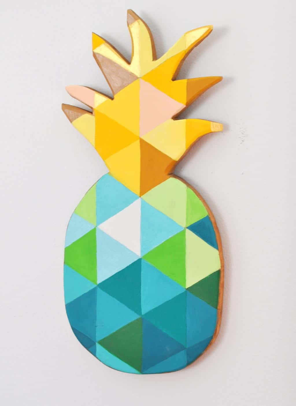 DIY Painted Geo Pineapple Cutting Board madeinaday.com