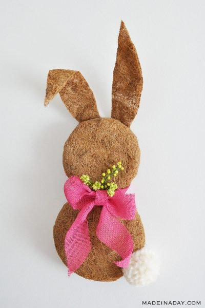 Sweet Bunny Wreath Made with Coconut Liners