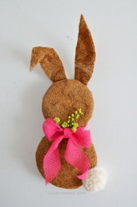 Easter Bunny Wreath made with Coco Liner Moss madeinaday.com