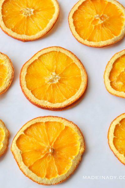 Oven Dried Orange Lemon Slices