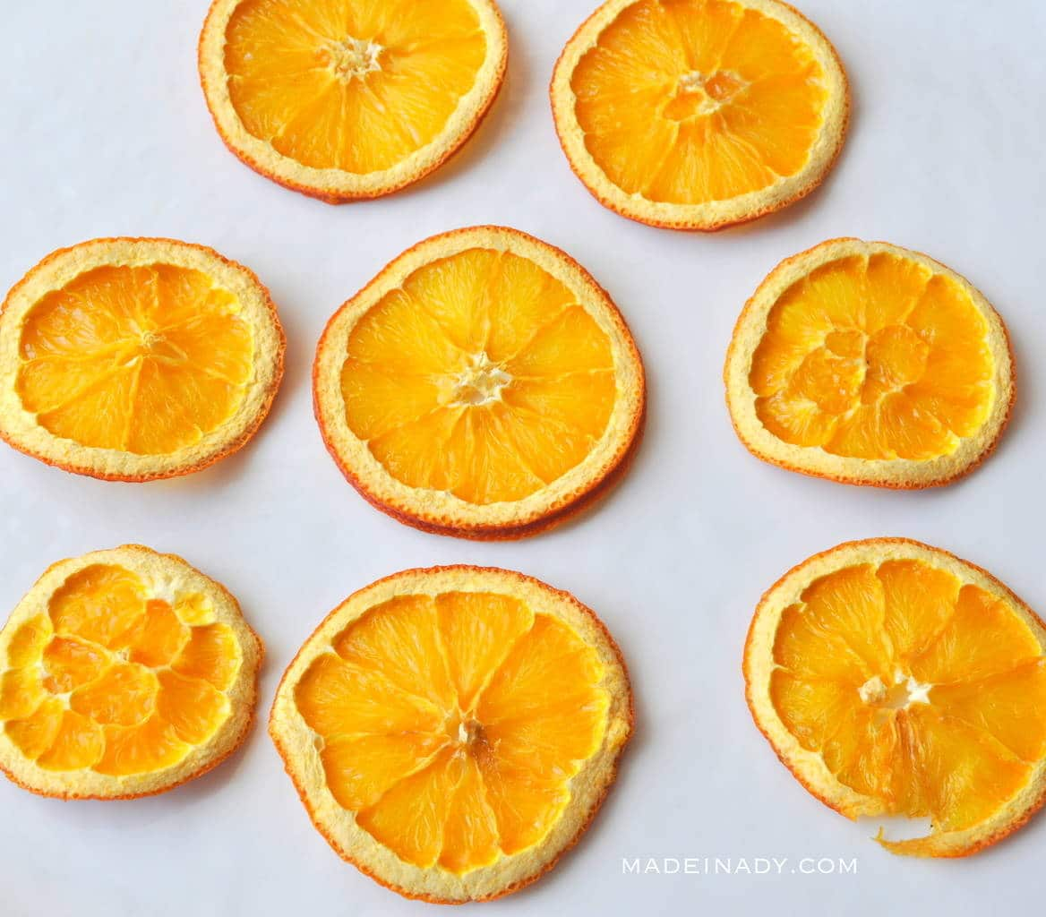 Easy oven dried dehydrated orange lemon slices