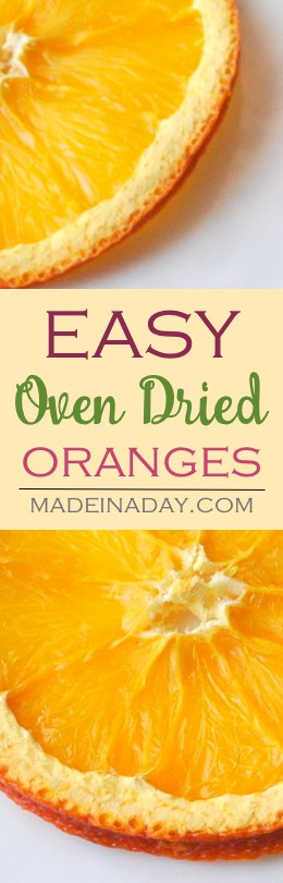 Oven Dried Orange & Lemon Slices,  Learn to oven dry oranges, lemons and other citrus fruit to use in crafts and food recipes.  #orange #fall #falldecor #potpourri