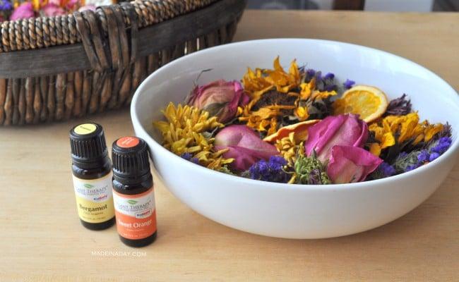 Essential Oil Citrus Potpourri Recipe madeinaday.com