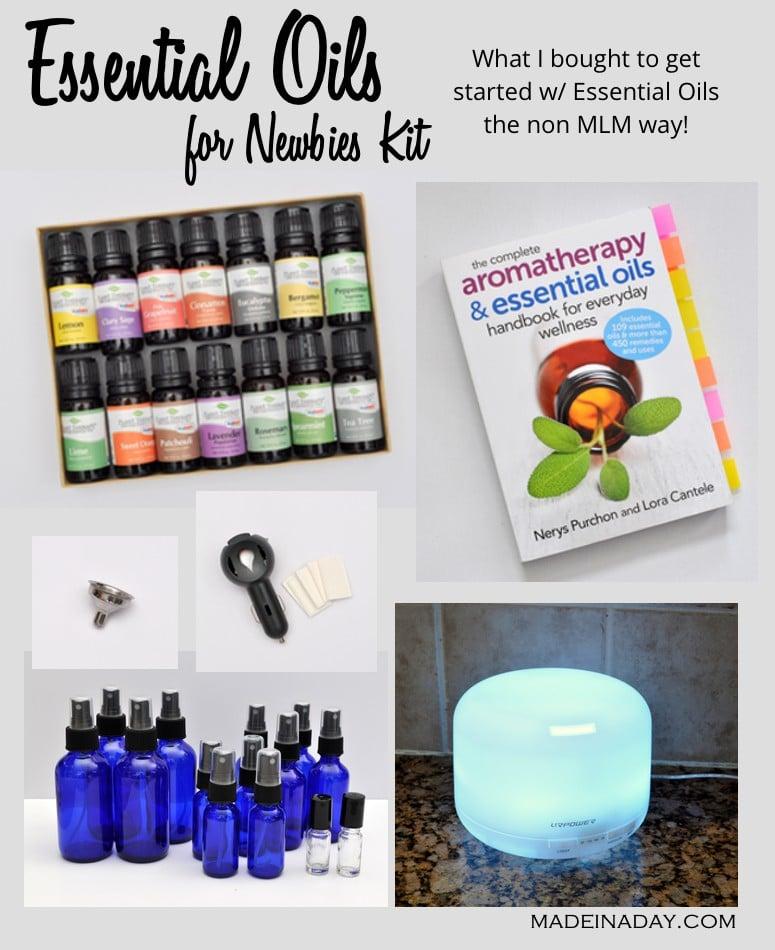 Essential Oils Beginners starter kit picks madeinaday.com