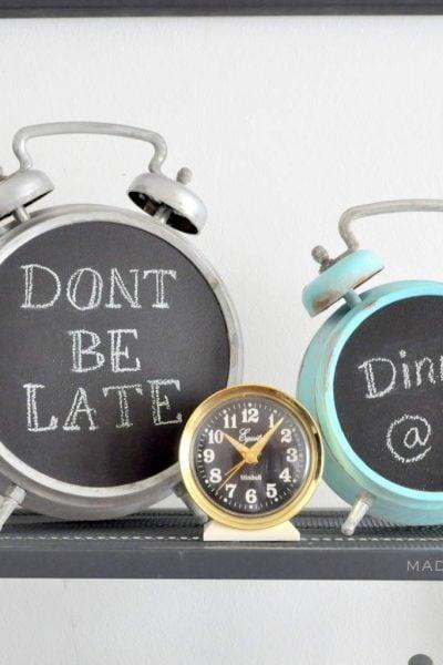 Chalkboard Alarm Clock Makeover