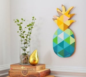 PAINTED GEOMETRIC PINEAPPLE