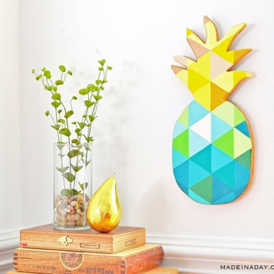DIY Painted Geometric Pineapple