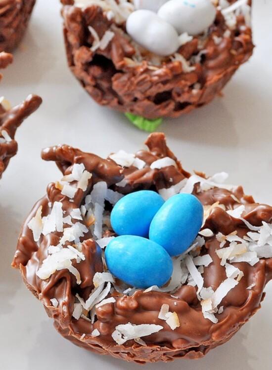 Chocolate Coconut Bird Nests Simple No-bake Recipe 3