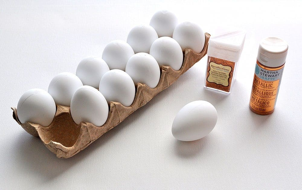 paint faux eggs