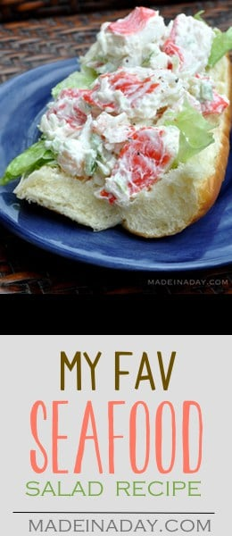 My Favorite #Seafood Salad Recipe, Which Wich copycat, #crab, surimi, shrimp, mayo.. make this deli favorite at home with this recipe. Neptune Salad, Best Seafood Salad Recipe ever, imitation crab, Publix seafood salad recipe