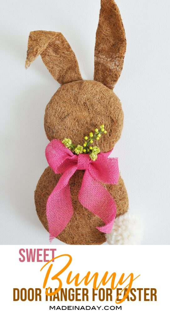 bunny wreath, easter bunny wreath, Easter door hanger