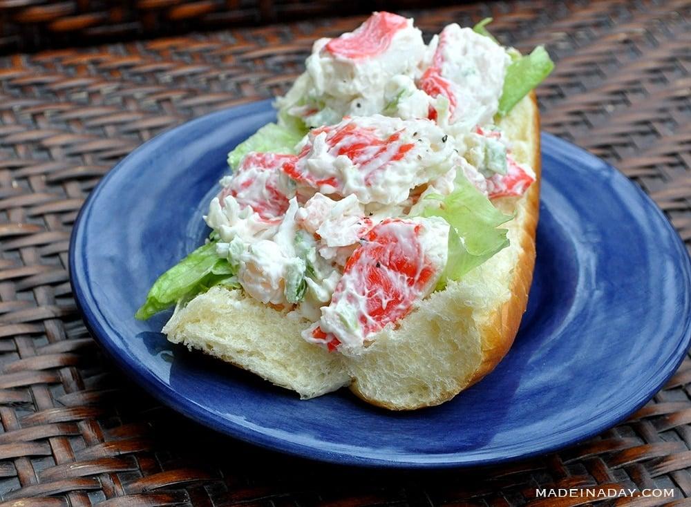 seafood salad, crab salad,