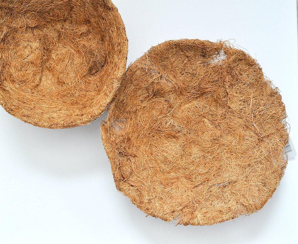 hanging basket liners, coco liner, coco fiber liner