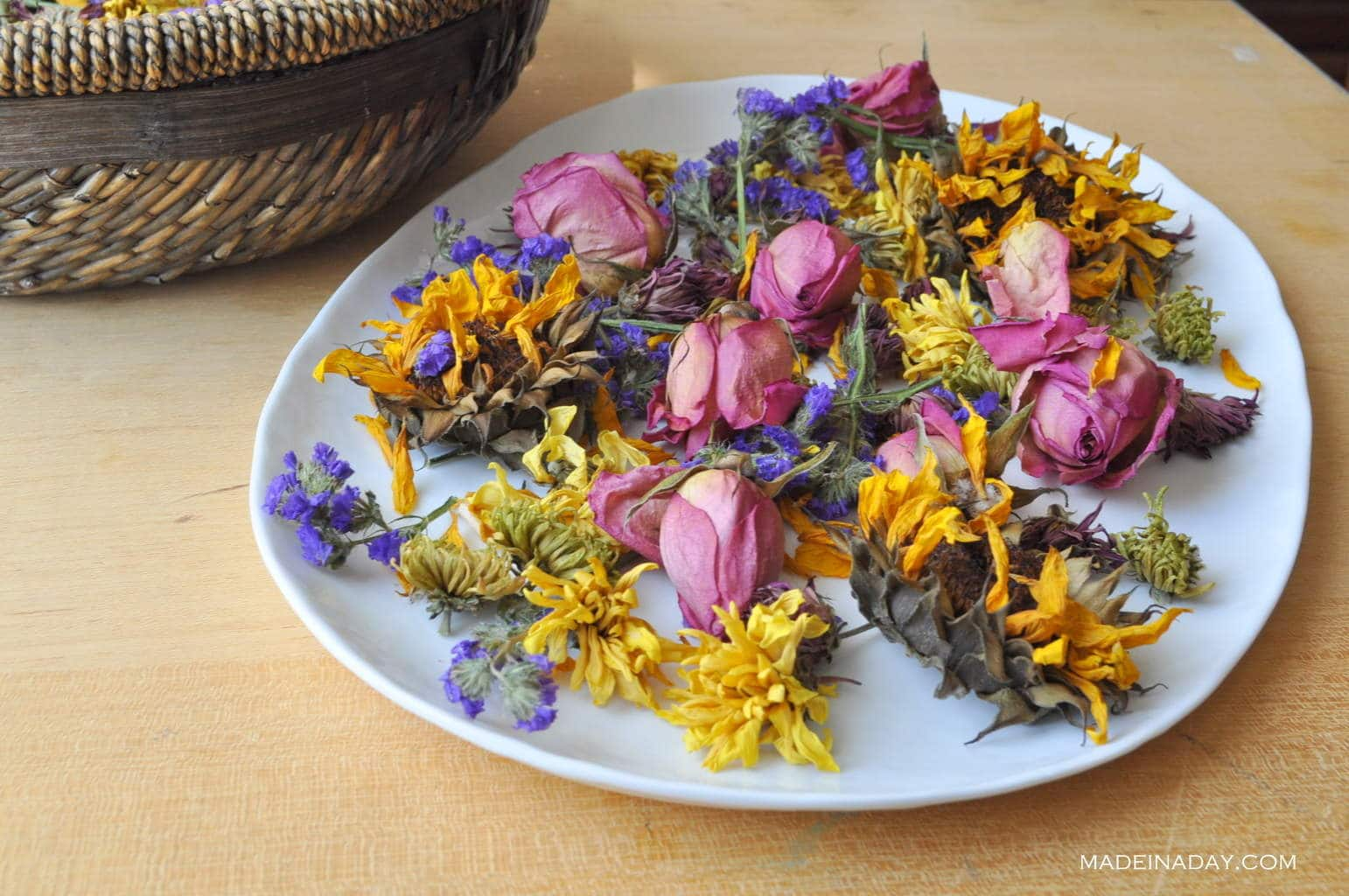 how to dry flowers in the oven, oven dried flowers