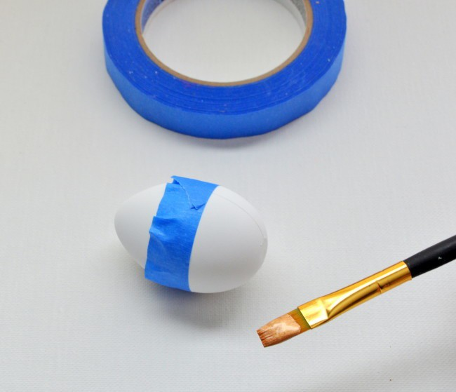tape off eggs to make straight lines when painting