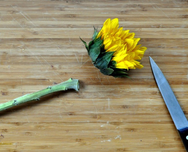 trim off flower tops before drying for potpourri