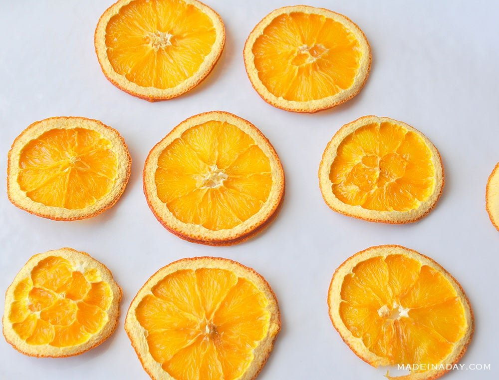 Oven Dried Orange Lemon Slices, dehydrated fruit, how to dehydrate orange slices, dehydrate with your oven, how to dry citrus in the oven,