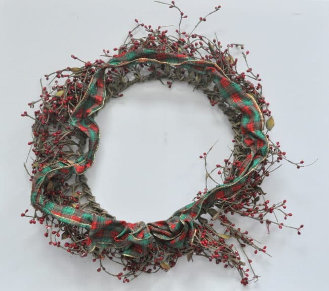Holiday wreath upcycle