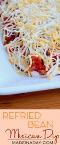 Mexican Refried Bean Dip 1