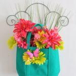 Spring Floral Tote Door Hanger