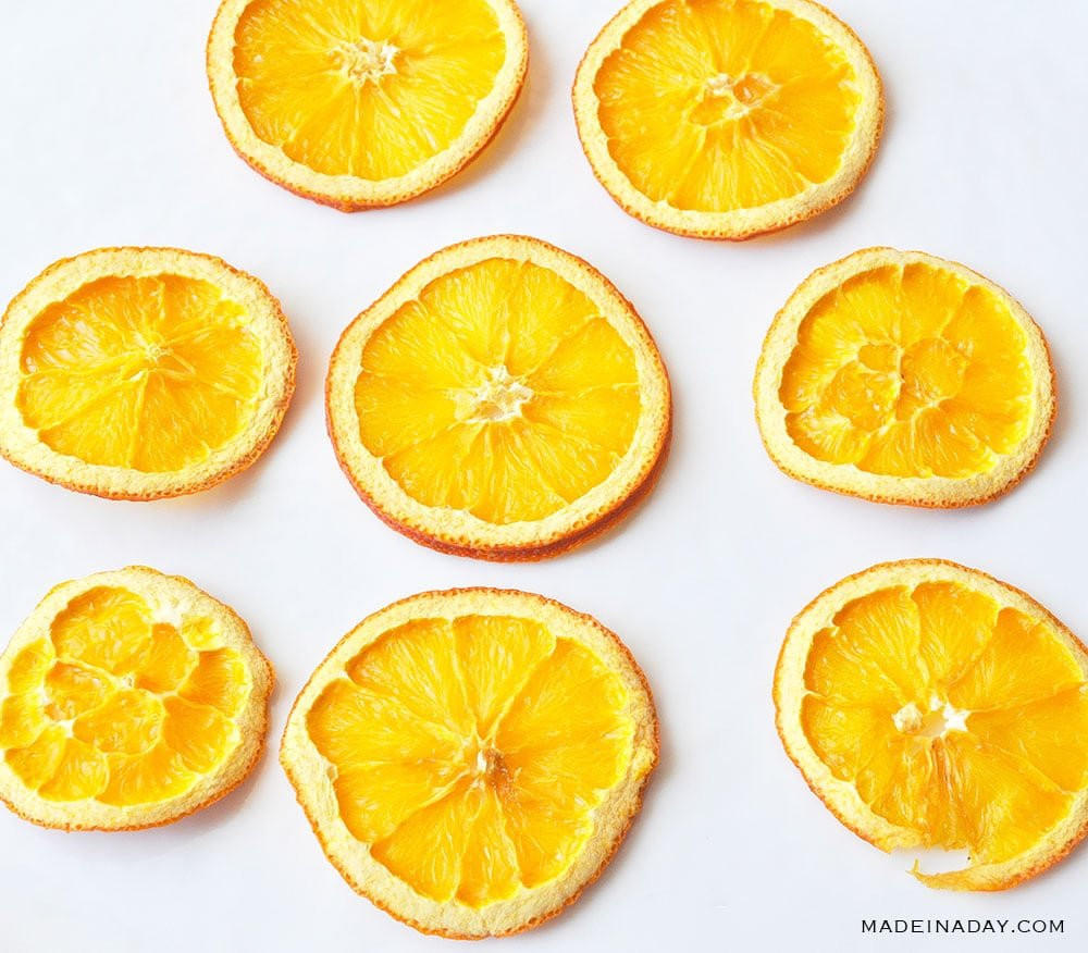 oven dried lemons and oranges