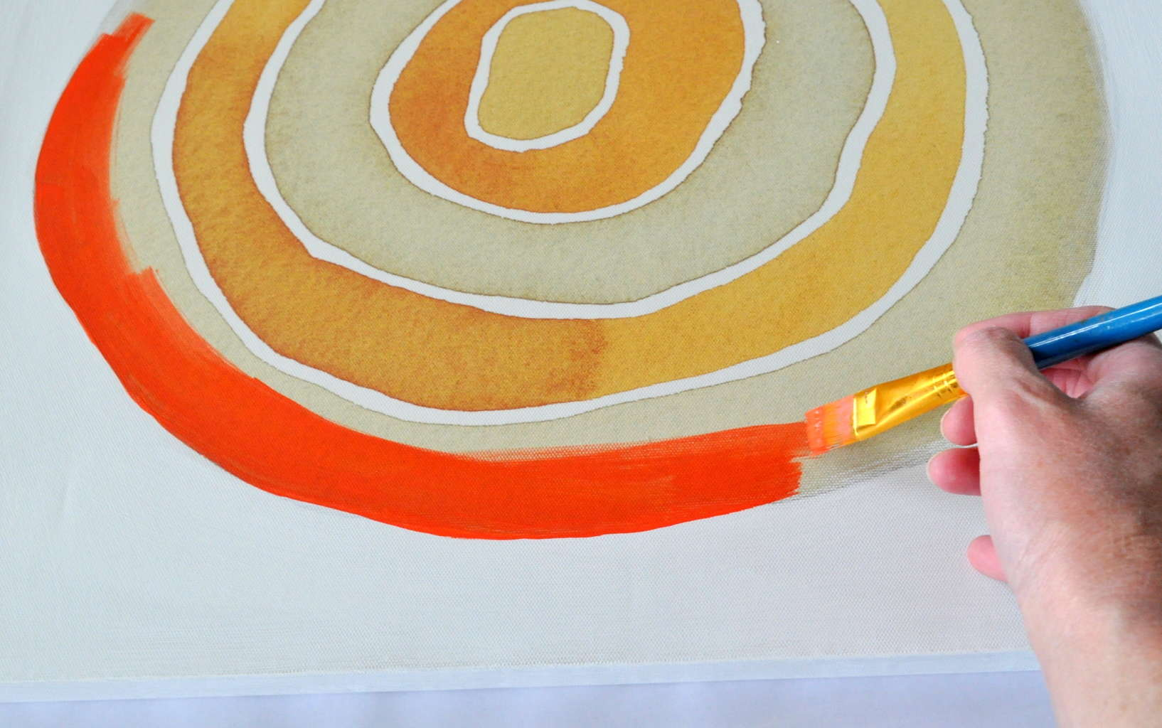 orange  navy wall art upcycle makeover  made in a day - diy orange and navy blue wall art