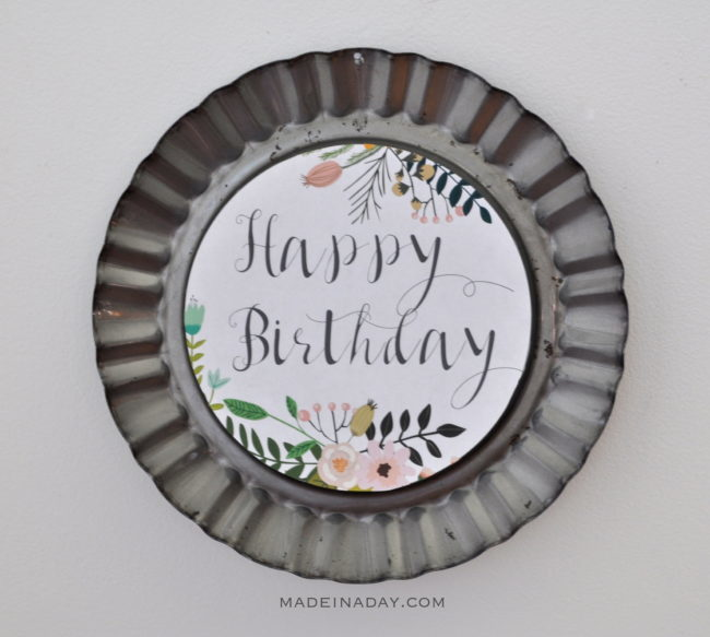 Free Printable Happy Birthday Fluted Pan Frame madeinaday.com