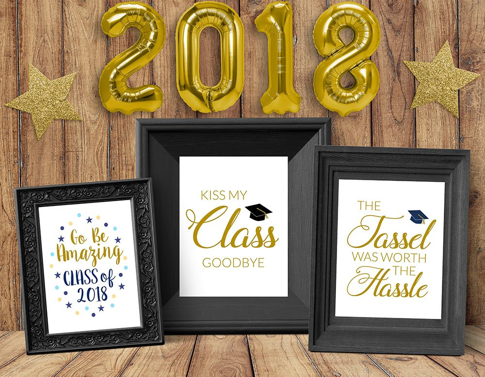 graduation printable quotes, kiss my class, tassel was worth the hassle