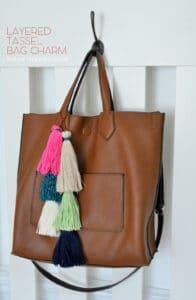 Layered Tassel Bag Charm madeinaday.com