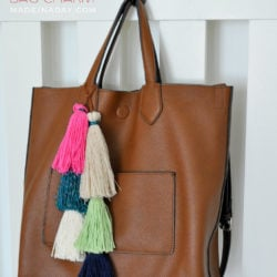 Layered Tassel Bag Charm madeinaday.com