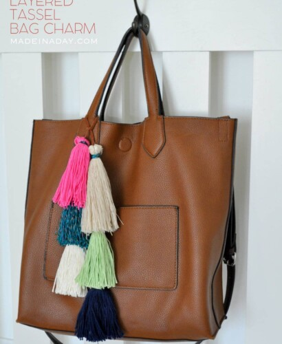 How to Make a Layered Tassel Bag Charm 7