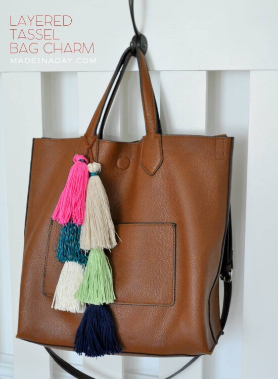 How to Make a Layered Tassel Bag Charm 38