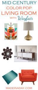 My Favorite Mid Century Color Pop Living Room 1