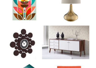 Mid Century Color Pop Living Room Blogger Picks on madeinaday.com