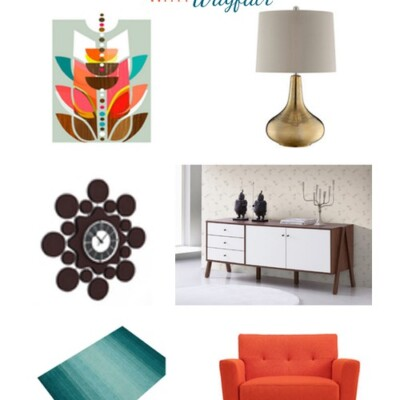 My Favorite Mid Century Color Pop Living Room