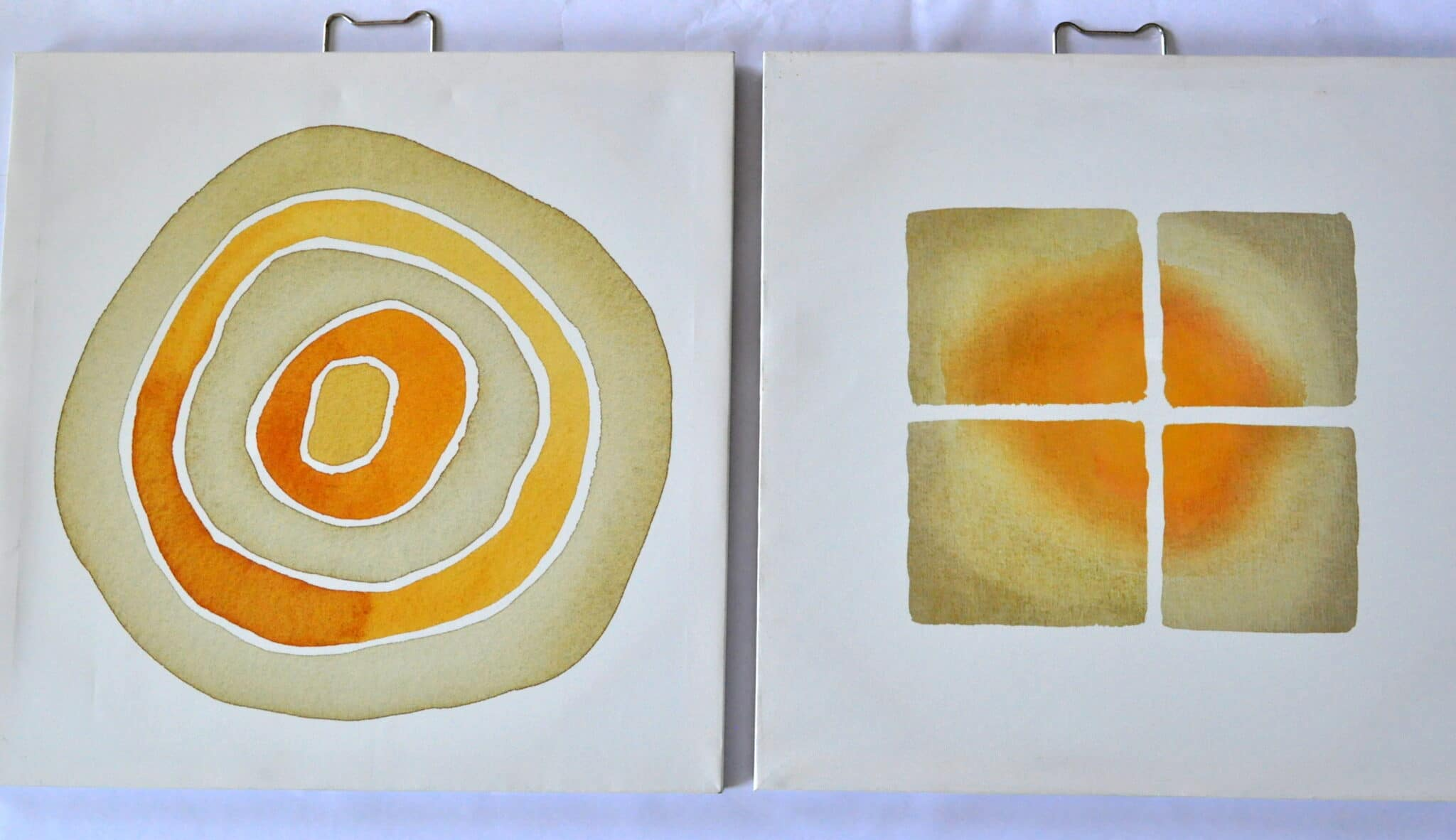 Orange & Navy Wall Art Upcycle Makeover 1