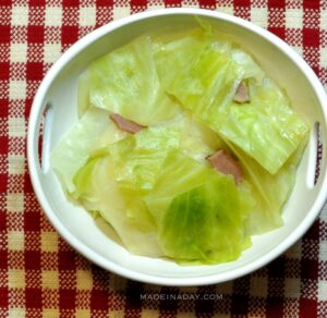 Southern Style Steamed Cabbage Ham Recipe Madeinaday.com