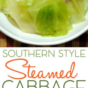 Southern Style Steamed Cabbage 1