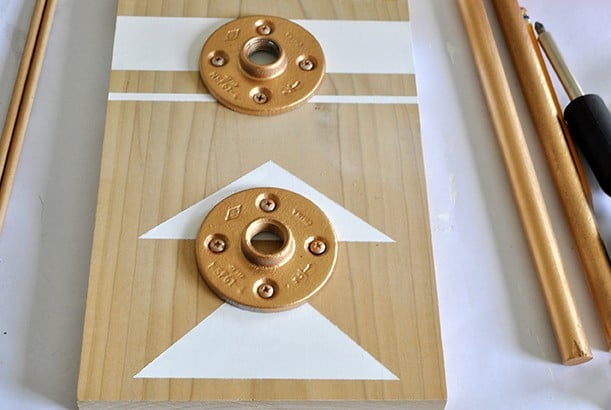 Add Floor flanges to make an industrial jewelry holder
