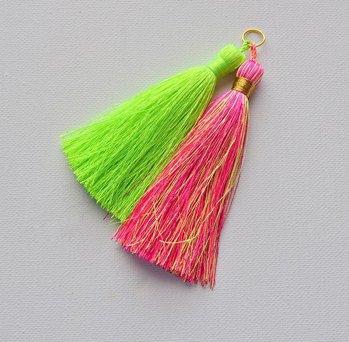 Attach tassels to jump rings