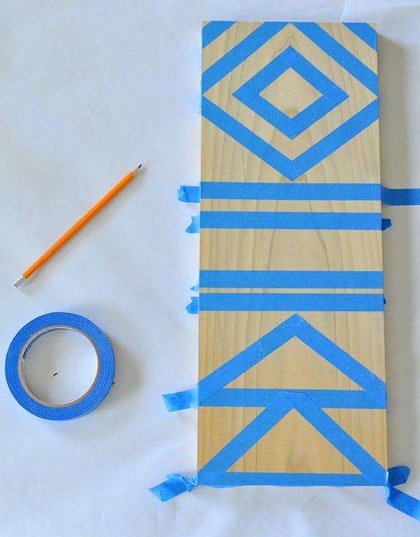 DIY Geometric Jewelry Holder