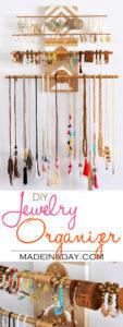 DIY Geometric Industrial Wall Jewelry Organizer 1