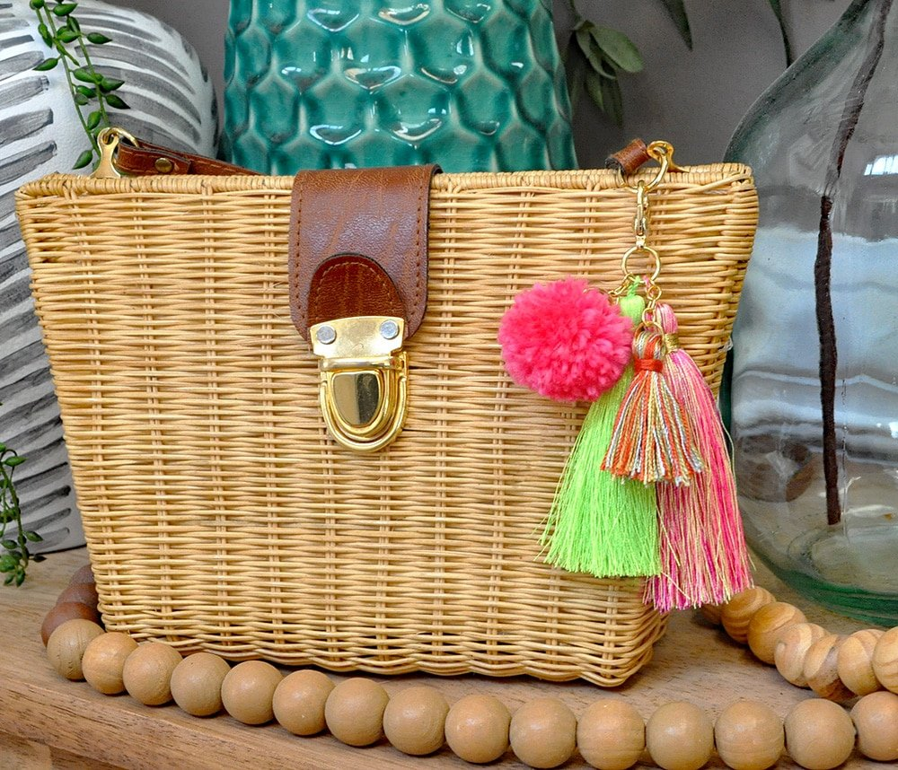 Simple Diy Pom Tassels Bag Charm Made In A Day