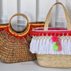 DIY Pom Tassel Totes madeinaday.com